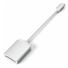 Адаптер Satechi с USB-C на Micro/SD Card Reader, серебристый, фото 3