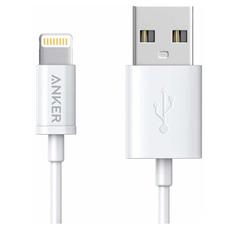 Кабель Anker MFi Round Cable 3ft, с USB-A на Lightning, 90 см, нейлон, 4000+ перегибов, белый, фото 2