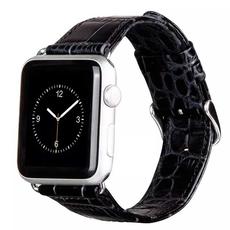 Кожаный ремешок HOCO Crocodile Leather Watchband для Apple Watch 38 mm, чёрный, фото 1