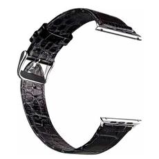 Кожаный ремешок HOCO Crocodile Leather Watchband для Apple Watch 38 mm, чёрный, фото 2