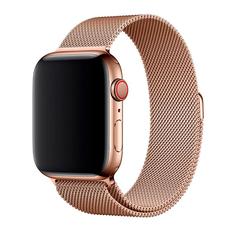 Миланский браслет для Apple Watch 44 мм, сетчатый, золотой, фото 1