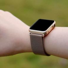 Миланский браслет для Apple Watch 44 мм, сетчатый, золотой, фото 4