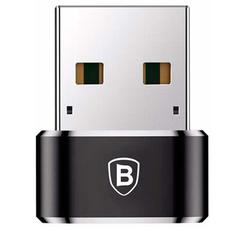 Переходник Baseus с USB-C на USB-А, чёрный, фото 1