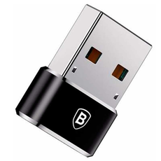Переходник Baseus с USB-C на USB-А, чёрный, фото 2