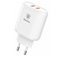 Сетевое зарядное устройство Baseus Bojure Series, 2 USB, 3,4 A, белый, фото 1