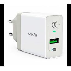Сетевое зарядное устройство Anker 18W, 3А, 1 USB, белый, фото 1