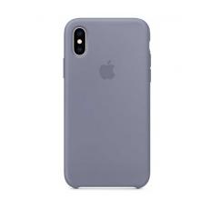 Силиконовый чехол для iPhone XS Max, тёмная лаванда, фото 1