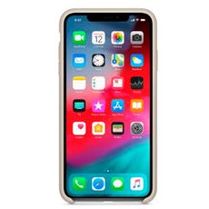 Силиконовый чехол Apple для iPhone XS Max, бежевый, фото 2