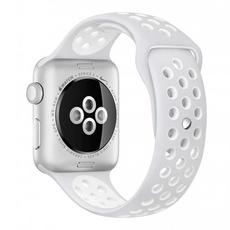 Спортивный ремешок Nike для Apple Watch 38 мм, платина/белый, фото 1