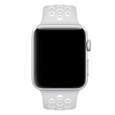 Спортивный ремешок Nike для Apple Watch 38 мм, платина/белый, фото 2