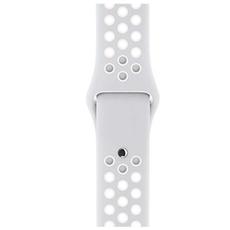 Спортивный ремешок Nike для Apple Watch 38 мм, платина/белый, фото 3