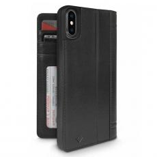 Чехол-книжка кожаный Twelve South Journal для iPhone X, чёрный, фото 1