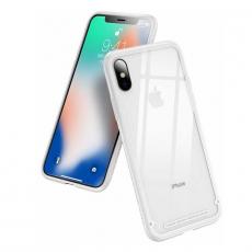 Чехол-накладка Baseus See-through Glass для iPhone Х/Xs, полиуретан / стекло, белый, фото 1