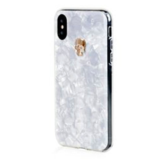 Чехол Bling My Thing Tresure, Gold Skull с кристаллами Swarovski для iPhone XS/X, белый, фото 1