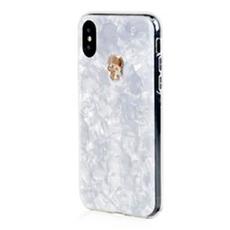 Чехол-накладка Bling My Thing Tresure, Gold Skull для iPhone X/Xs, с кристаллами Swarovski, белый, фото 1