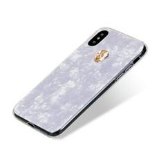 Чехол-накладка Bling My Thing Tresure, Gold Skull для iPhone X/Xs, с кристаллами Swarovski, белый, фото 2