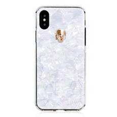 Чехол-накладка Bling My Thing Tresure, Gold Skull для iPhone X/Xs, с кристаллами Swarovski, белый, фото 3