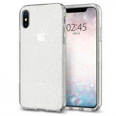 Чехол-накладка SGP Liquid Crystal Glitter для iPhone Х/Xs, полиуретан, прозрачный, фото 1