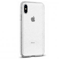Чехол-накладка SGP Liquid Crystal Glitter для iPhone Х/Xs, полиуретан, прозрачный, фото 3