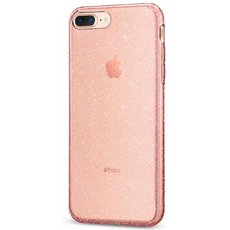 Чехол-накладка SGP Liquid Crystal Glitter для iPhone 7/8 Plus, полиуретан, прозрачный / розовый, фото 1