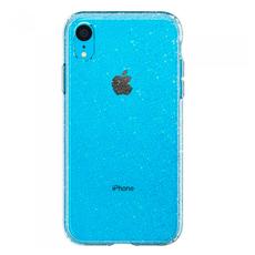 Чехол-накладка SGP Liquid Crystal Glitter для iPhone XR, полиуретан, прозрачный, фото 1