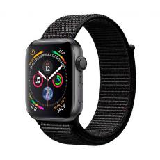 """Apple Watch Series 4, 40 мм, корпус """"серый космос"""", чёрный спортивный браслет, фото 1"""