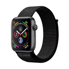 """Apple Watch Series 4, 44 мм, корпус """"серый космос"""", чёрный спортивный браслет, фото 1"""