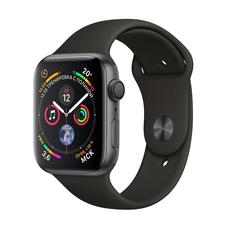 """Apple Watch Series 4, 40 мм, корпус """"серый космос"""", чёрный спортивный ремешок, фото 1"""