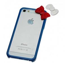 Чехол-бампер Hello Kitty для iPhone 5, 5S и SE, синий, фото 1