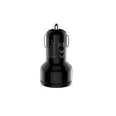 Автомобильное зарядное устройство AUKEY, USB-А, USB-C, 2.4A, чёрный, фото 2