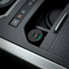 Автомобильное зарядное устройство AUKEY, USB-А, USB-C, 2.4A, чёрный, фото 3