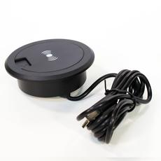 Беспроводное зарядное устройство Hopepower, 5W встраиваемое в мебель, черный, фото 1