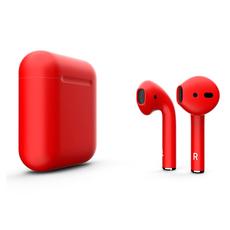 Беспроводные наушники Apple AirPods Color,красные матовые, фото 1