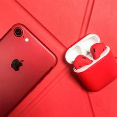 Беспроводные наушники Apple AirPods Color,красные матовые, фото 2