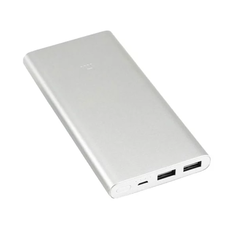 Внешний аккумулятор Xiaomi Mi Power Bank 2i, 2 USB-A, Micro-USB, 10000 mAh, серебристый, фото 2