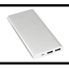 Внешний аккумулятор Xiaomi Mi 2i, 2 USB-A, Micro-USB, 10000 mAh, серебристый, фото 1