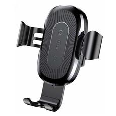 Держатель автомобильный-беспроводная зарядка Baseus Wireless Charger, чёрный, фото 1
