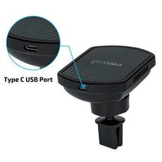 Держатель автомобильный Pitaka MagMount Qi Pro Vent USB-C, чёрный, фото 4