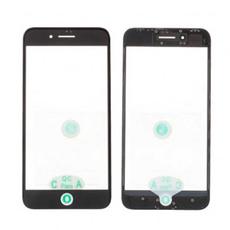 Переднее стекло с рамкой для iPhone 8 Plus, полный ремкомплект, оригинал, чёрный, фото 1