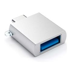 Переходник Satechi, с USB-C на USB-A (3.0), серебристый, фото 1