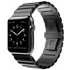 Ремешок Simpeak Stainless Steel Butterfly для Apple Watch series 42/44mm, чёрный, фото 2