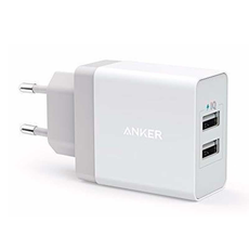 Сетевое зарядное устройство Anker PowerPort 2, 2 USB-A, 4.8 А, белый, фото 1