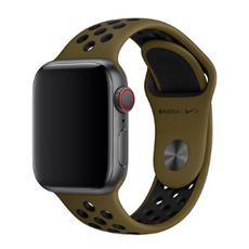 """Спортивный ремешок Nike для Apple Watch 44 мм, """"зелёная оливка"""" /чёрный, фото 1"""