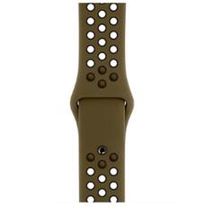 """Спортивный ремешок Nike для Apple Watch 44 мм, """"зелёная оливка"""" /чёрный, фото 2"""