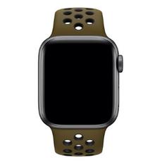 """Спортивный ремешок Nike для Apple Watch 44 мм, """"зелёная оливка"""" /чёрный, фото 3"""