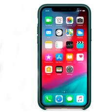 "Чехол-накладка Apple для iPhone Xs Max, натуральная кожа, ""зелёный лес"", фото 2"