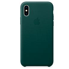 "Чехол-накладка Apple для iPhone Xs Max, натуральная кожа, ""зелёный лес"", фото 1"