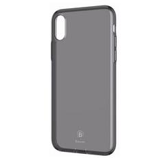 Чехол-накладка Baseus Simple Series Pluggy для iPhone X/Xs, полиуретан, прозрачный / чёрный, фото 1