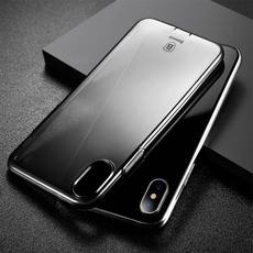 Чехол-накладка Baseus Simple Series Pluggy для iPhone X/Xs, полиуретан, прозрачный / чёрный, фото 3