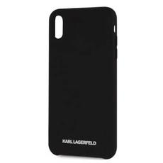 Чехол-накладка Lagerfeld Silver logo для iPhone Xs Max, силикон, чёрный / серебристый, фото 3